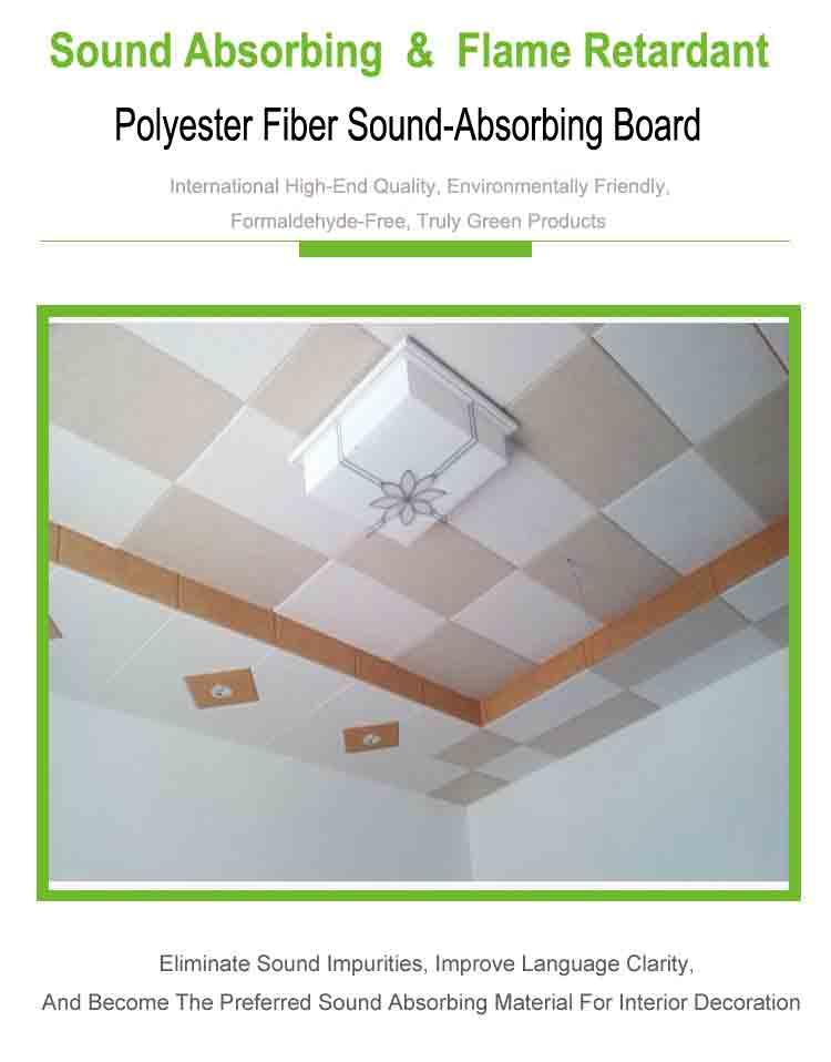 1 polyester fiber sound absorbing panel