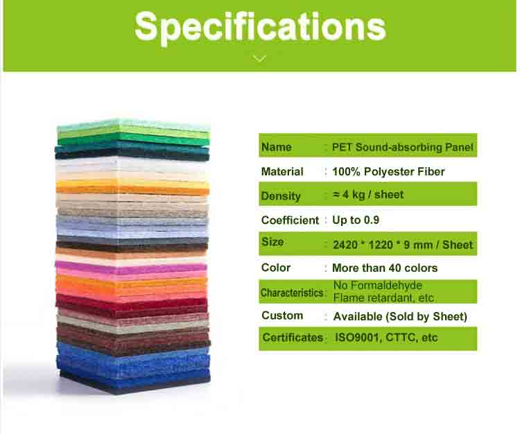 10 polyester fiber soundproof partition
