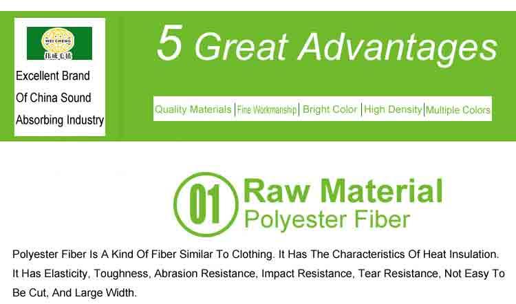 2 polyester fiber sound absorbing board