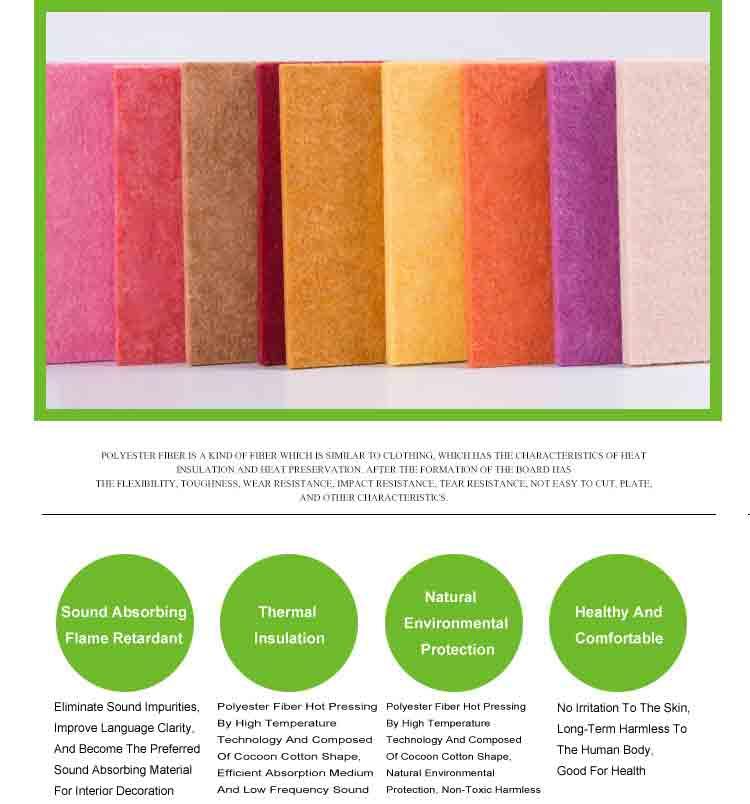3 polyester fiber sound absorbing plank