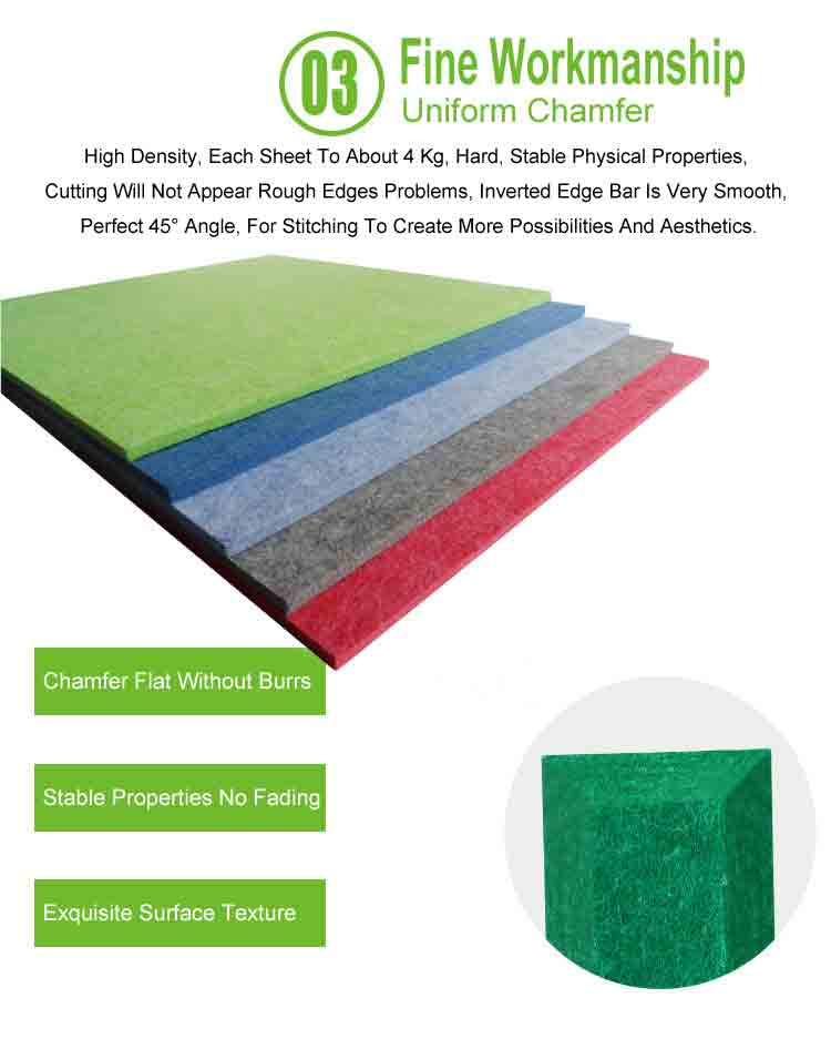 5 polyester fiber sound absorbing partition