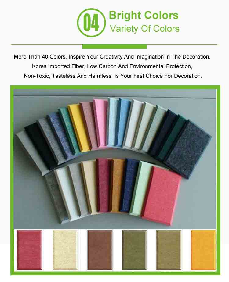6 polyester fiber soundproof panel