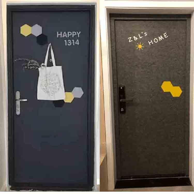 Felt House Door Sticker 4