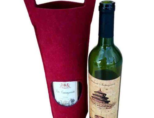 Felt Red Wine Bag