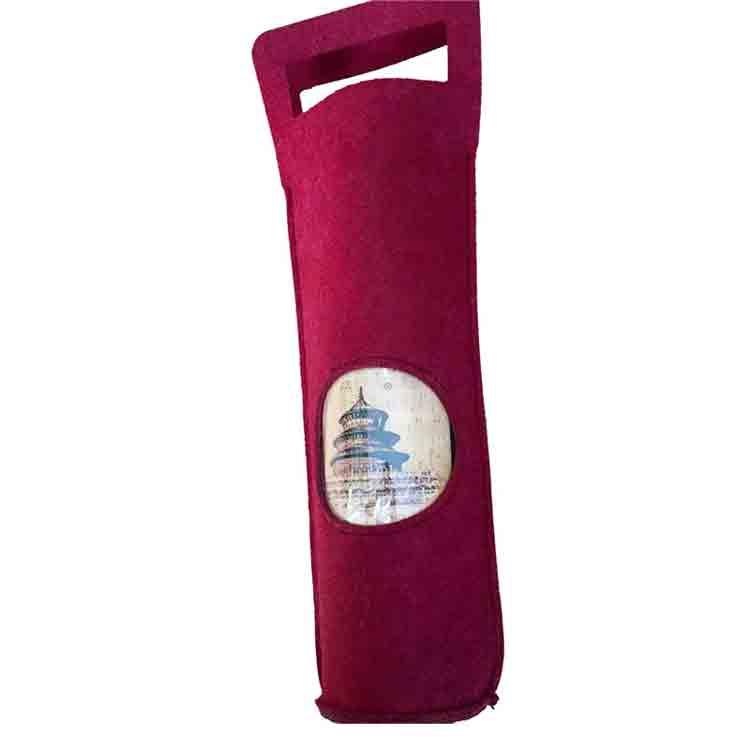 Felt Red Wine Bag 2