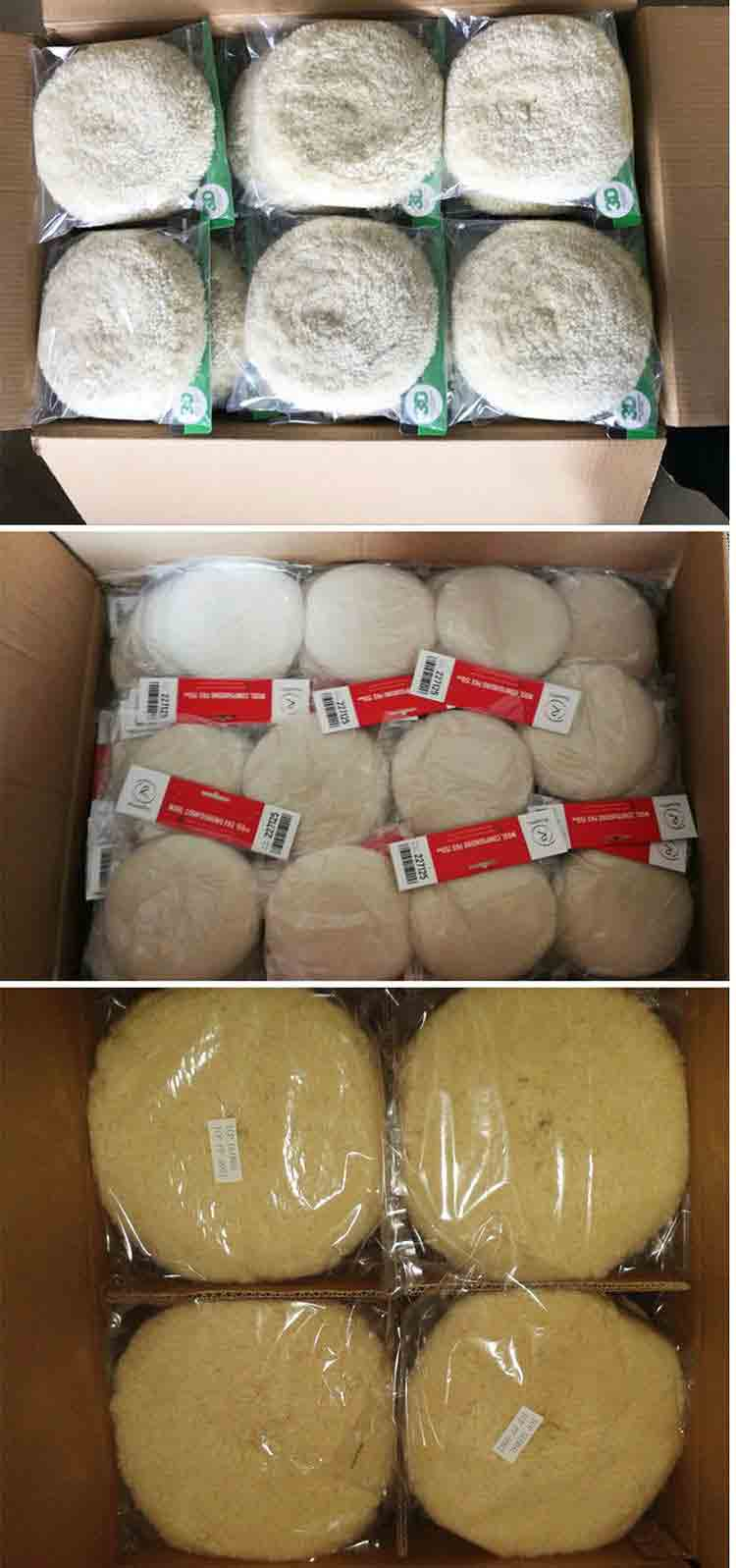 Single Side Wool Buffing Pad Packaging