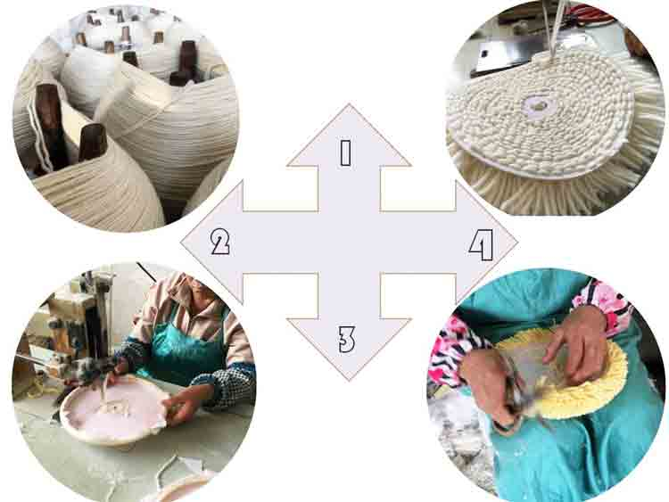 Single Side Wool Buffing Pad Production