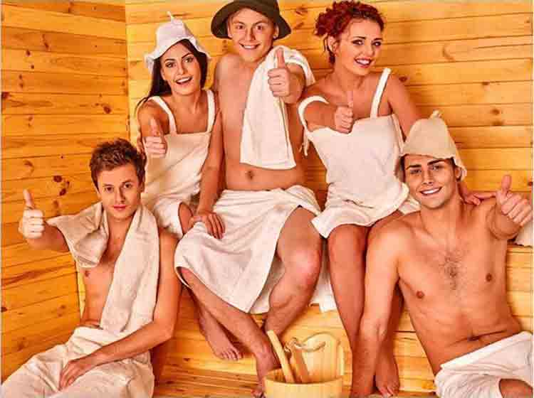 Wool Felt Sauna Hat Use 3