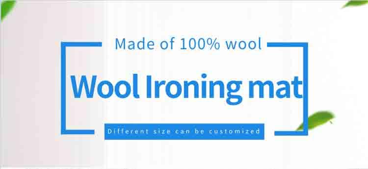Wool Ironing Mat Details 1