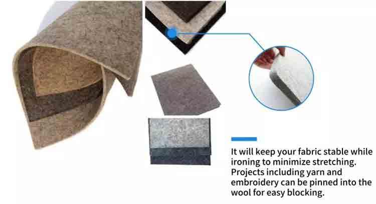 Wool Ironing Mat Details 4