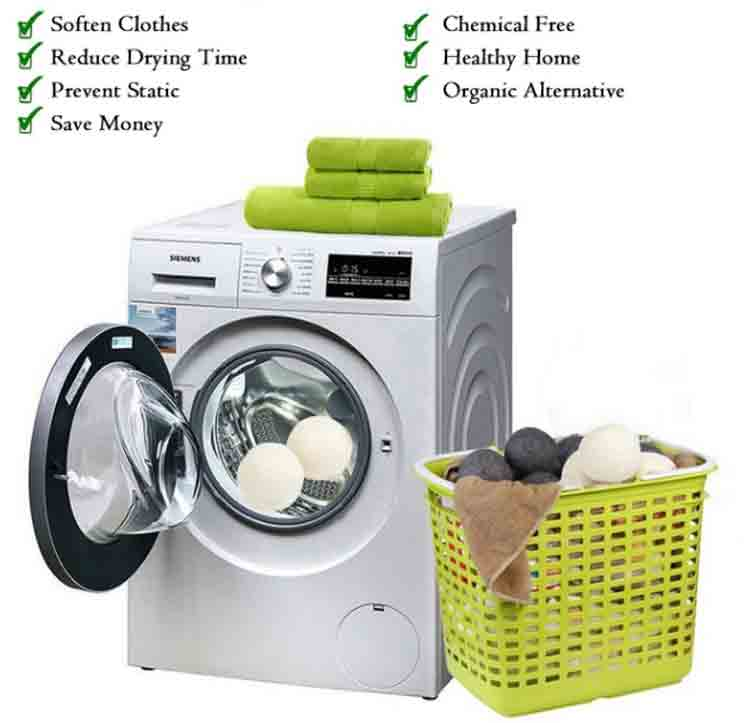 Wool Laundry Dryer Ball Features