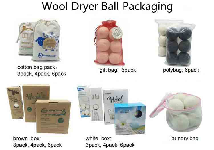 Wool Laundry Dryer Ball Package 1