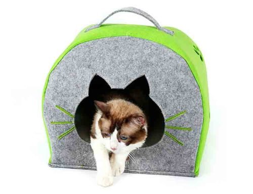 felt cat bed