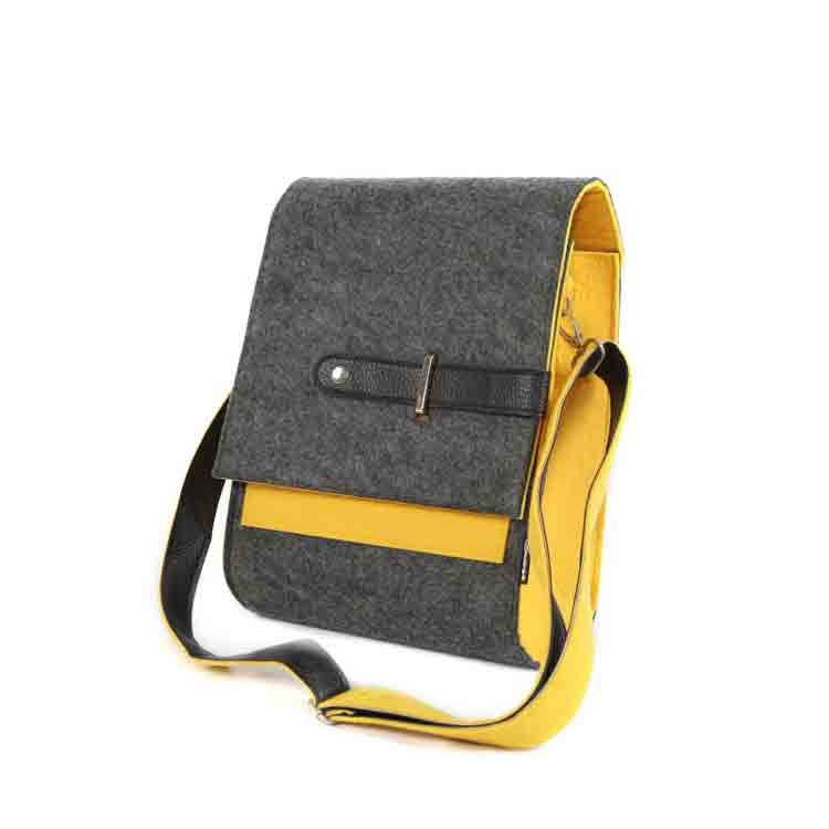 felt messenger bag