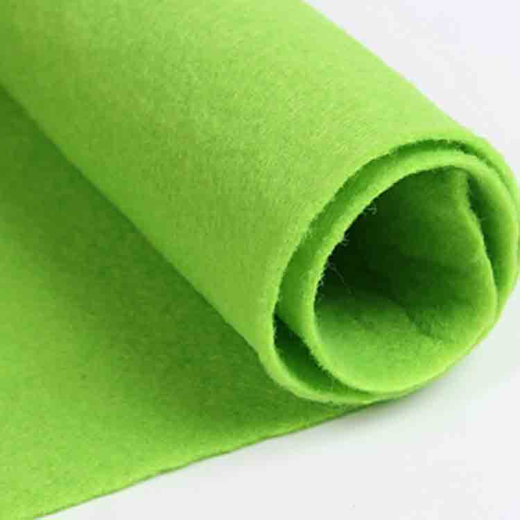 green felt cloth