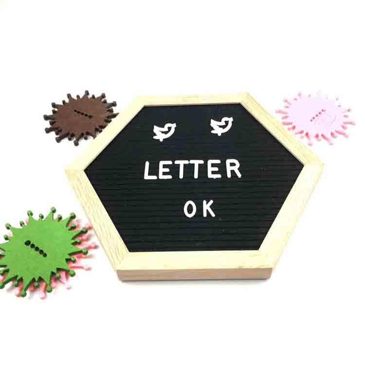 hexagon letter board 1