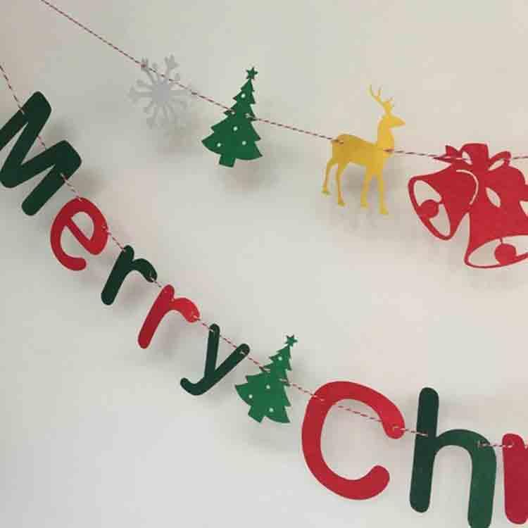 merry christmas felt banner 1
