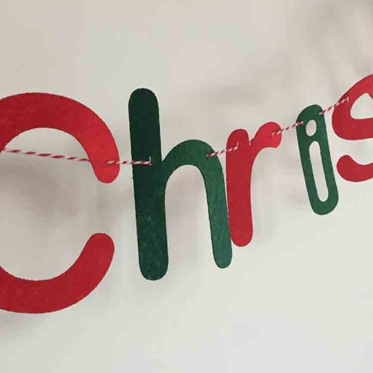 merry christmas felt banner 2