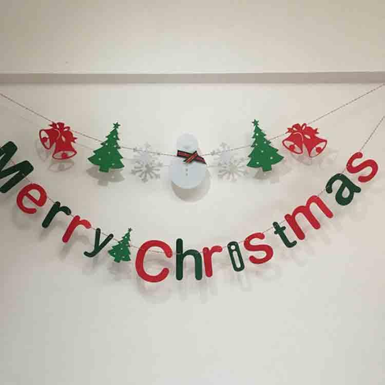 merry christmas felt banner