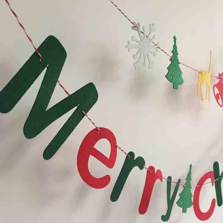 merry christmas felt banner 4