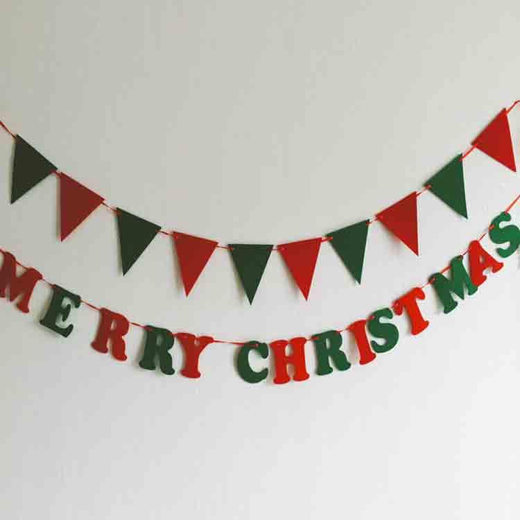 merry christmas felt banner 5