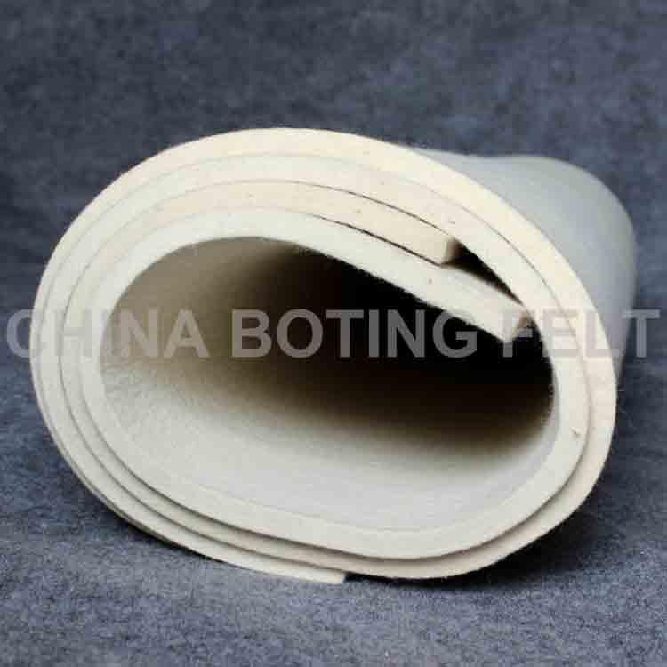 white felt roll