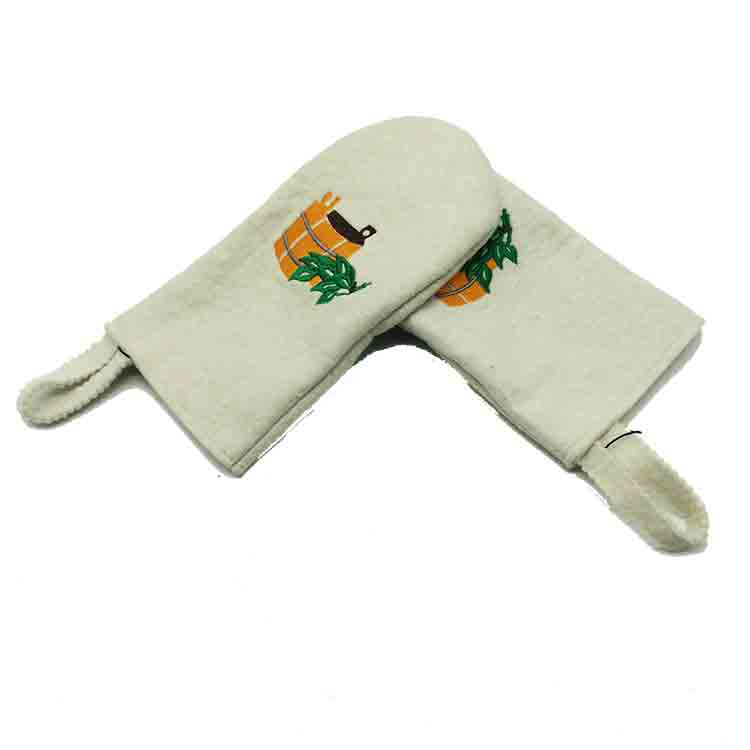 wool sauna glove 1
