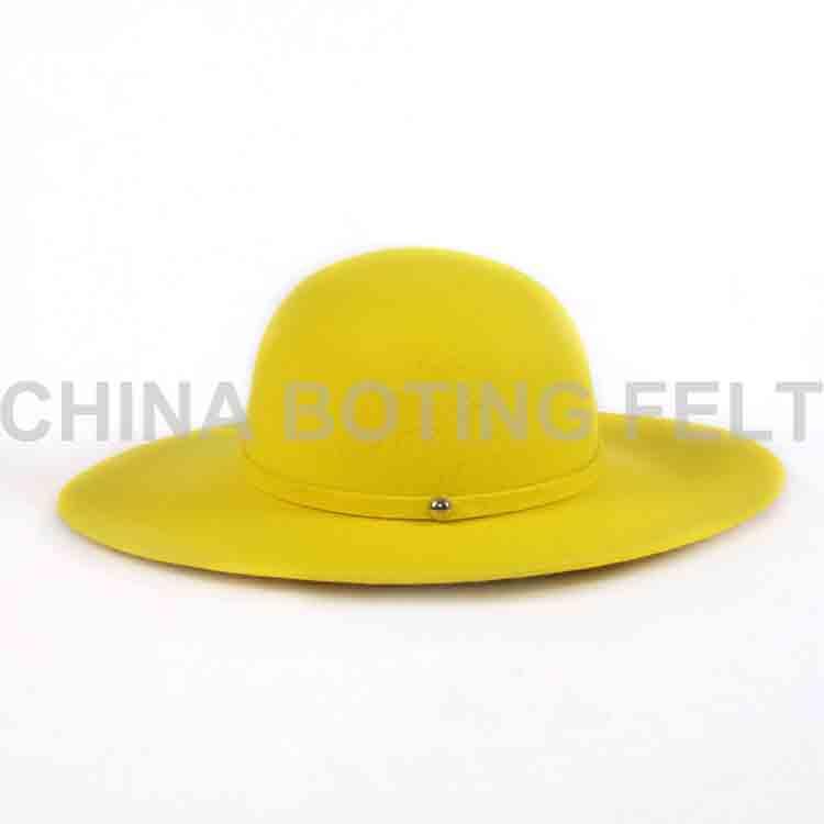 felt brim hat