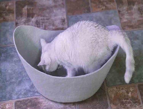 felt cat cave bed