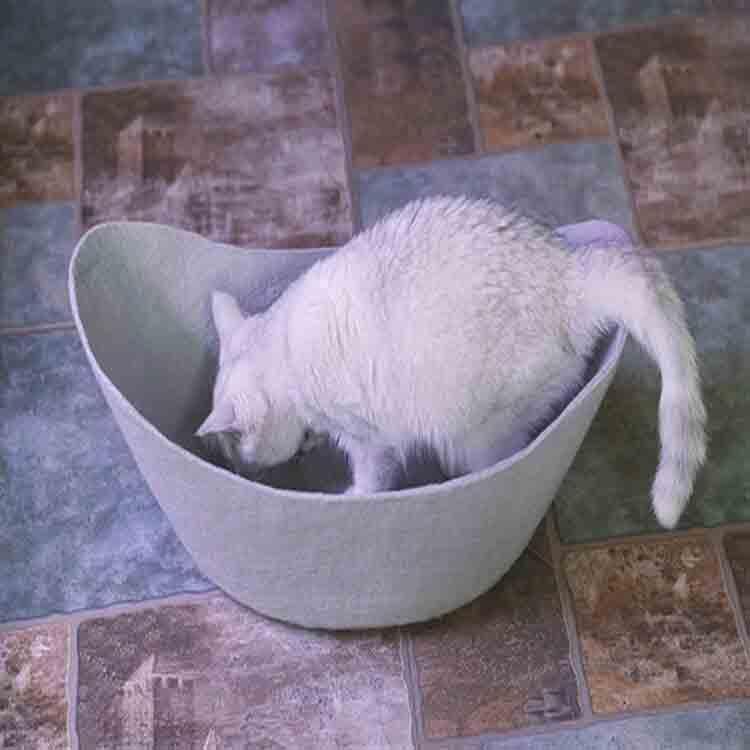 รู้สึกว่าเตียงแมวถ้ำ