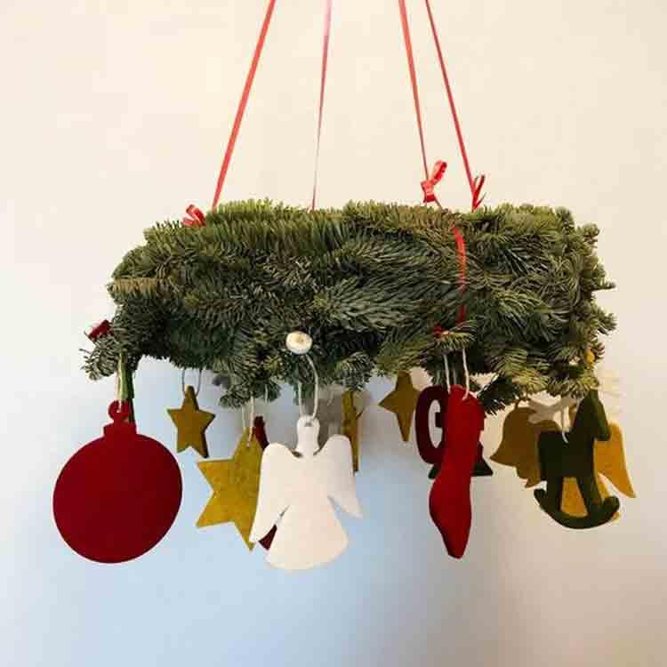 felt christmas wreath 3