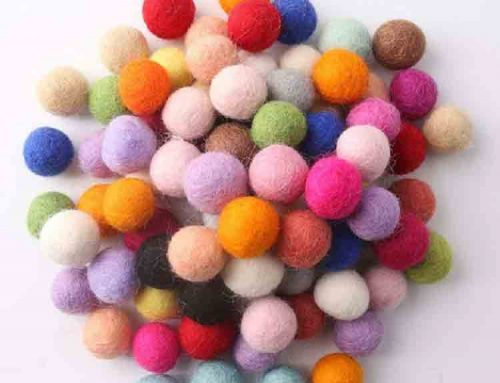 felt craft balls