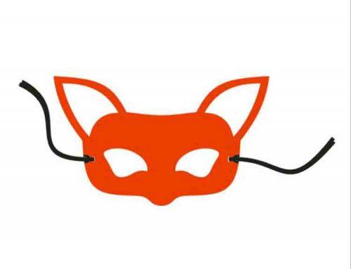 felt fox mask