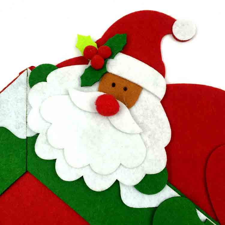 felt santa ornament 1