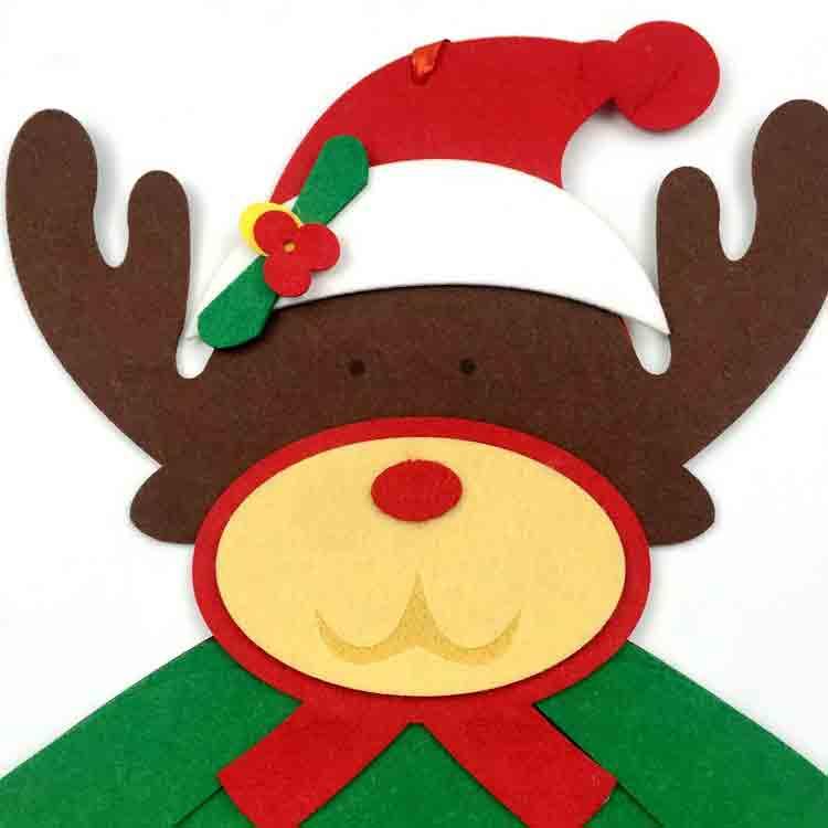 felt santa ornament 3