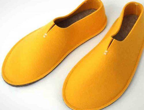 calzature sole di feltru