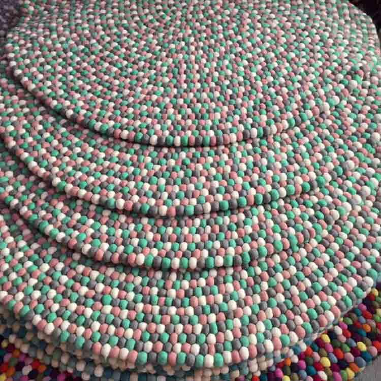 felt stone rug 2