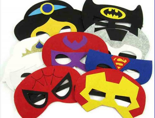 felt superhero mask