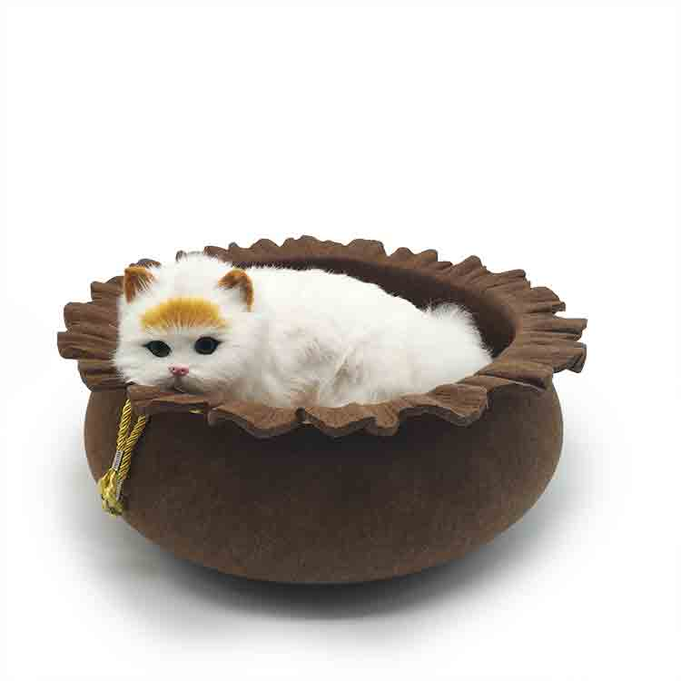 felted wool cat cave 4