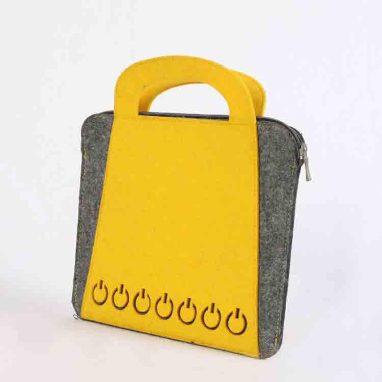 keçeleşmiş yün çantası