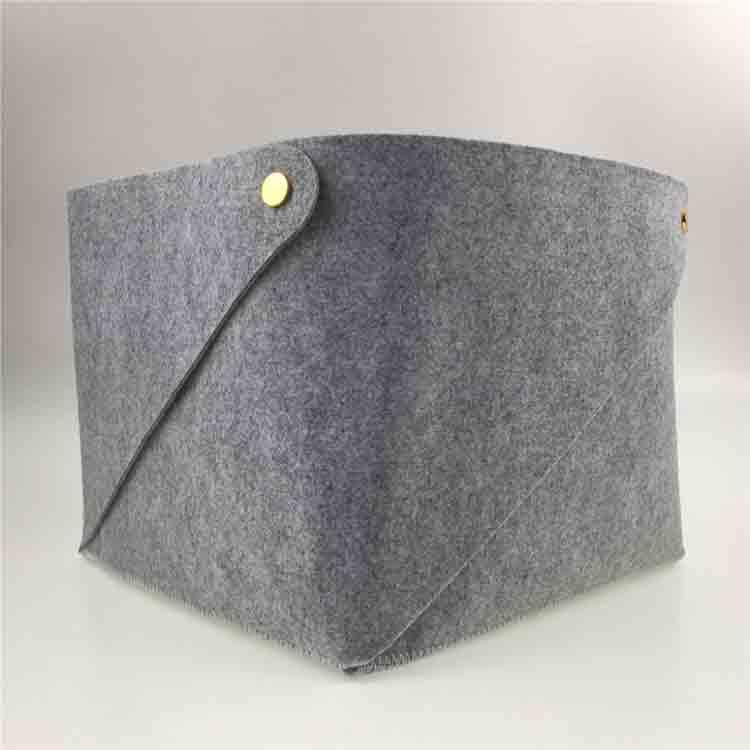grey felt basket 1