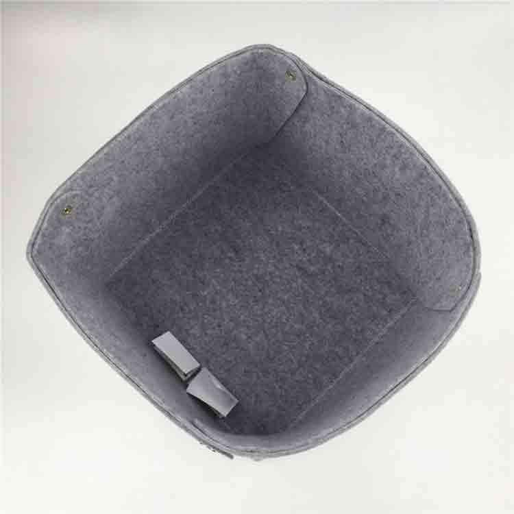 grey felt basket 3