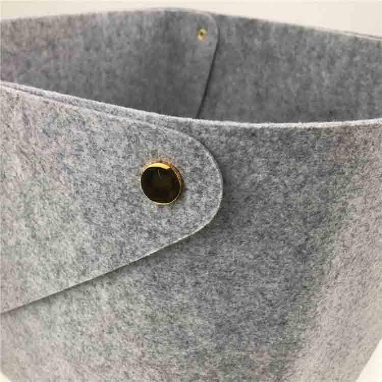 grey felt basket 4