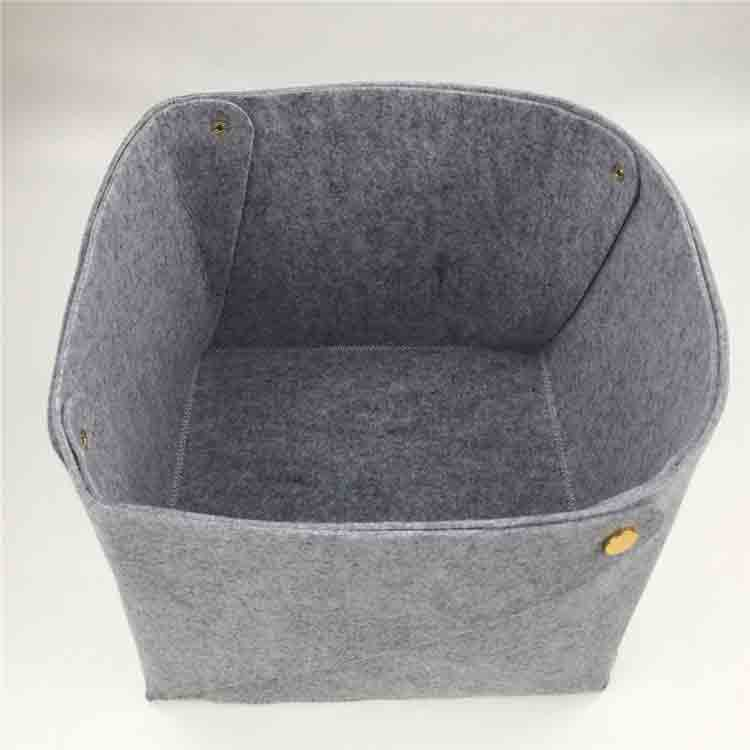 grey felt basket 5