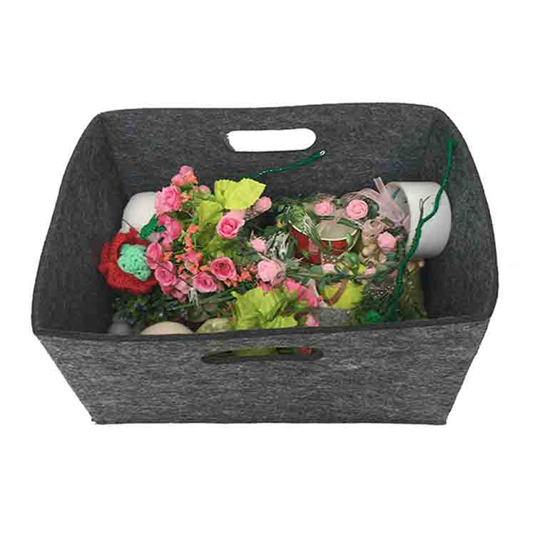 grey felt storage basket 3