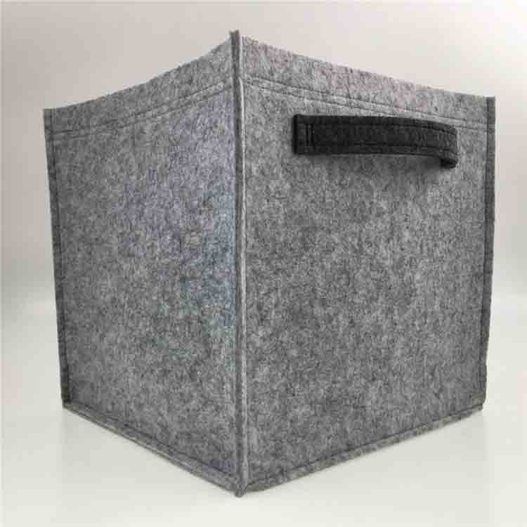 grey felt storage box 1