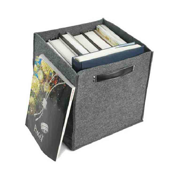 grey felt storage box 5