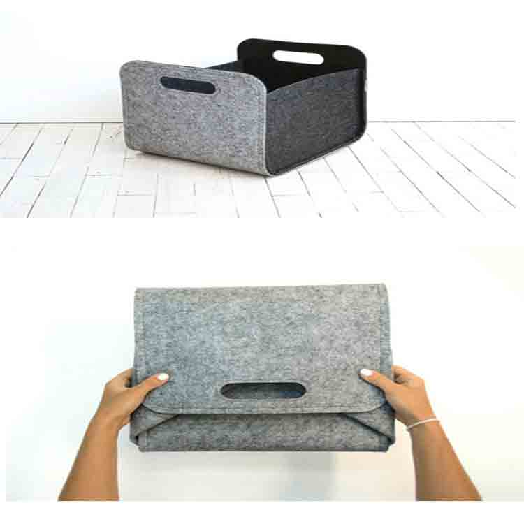 grey felt storage box 6