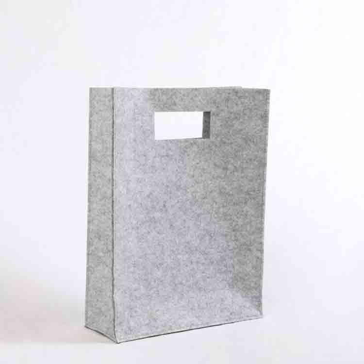 grey felt tote bag 1