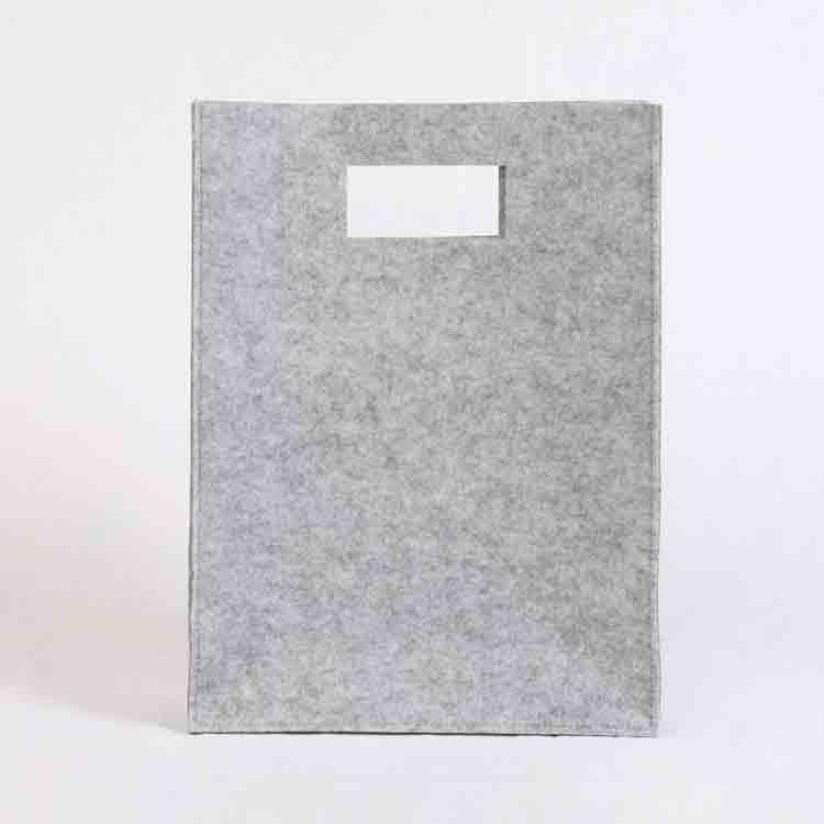 grey felt tote bag 3